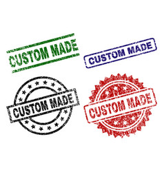 grunge textured custom made stamp seals vector image