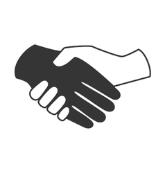 handshake pictogram symbol icon vector image