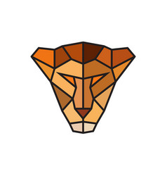 Head of a lioness logo template for business vector