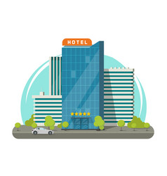 hotel isolated on city street vector image