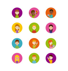 icons set of people vector image