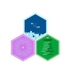 Infographics element uranium vector
