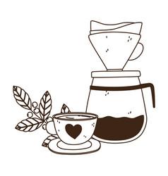 International day coffee drip brew beverage vector