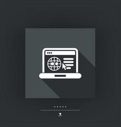 Internet map icon vector