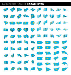 Kazakhstan flag vector
