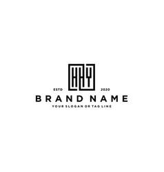Letter hhy square logo design vector