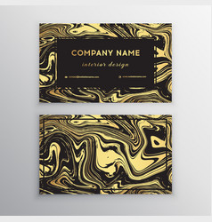 luxury business card with marble texture vector image