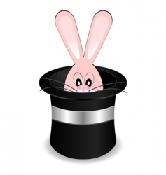 magician hat with rabbit vector image