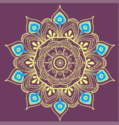 Mandala design element round ornament vector