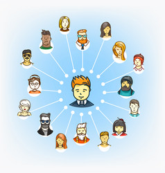 modern web social media network schem vector image