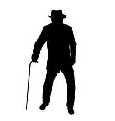 old man silhouette vector image