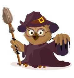 Owl teacher in Halloween costume vector