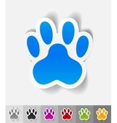 realistic design element footprint vector image