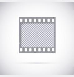 Realistic frame 35 mm filmstrip empty blanck vector