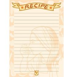 Recipe document template vector image