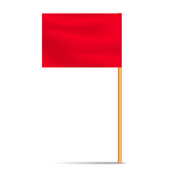 red desktop flag icon realistic style vector image