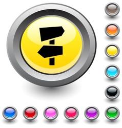 Road arrows round button vector image vector image
