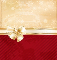 Romantic Gold Ribbon Background vector