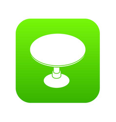 Round table icon green vector