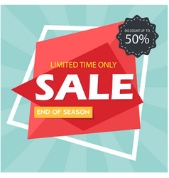 sale discount up to 50 limited time only i vector image