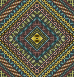 Seamless embroidery pattern vector