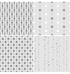 Seamless pattern with squares and circles on lines vector