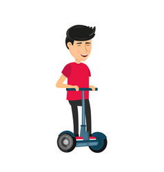 Self balancing electric scooter vector