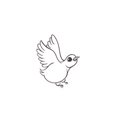 sketch hand drawn sparrow bird isolated vector image
