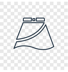 skirt with white lining concept linear icon vector image