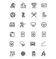 Sports Line Icons 4 vector image