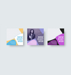 Square new post template for business promotion vector