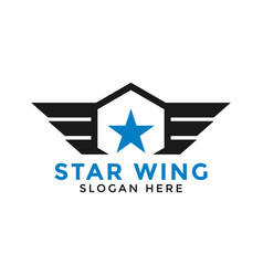 Star wing logo icon design template vector