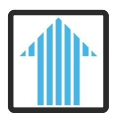 Stripe Arrow Up Framed Icon vector