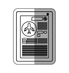 Tablet and travel ecommerce design vector