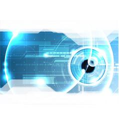 technological eye scanning hud security vector image