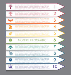 Template infographic horizontal white strips on vector