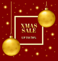 template of the christmas sale of the banner vector image