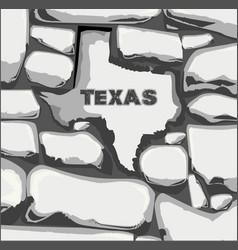 Texas stone wall vector