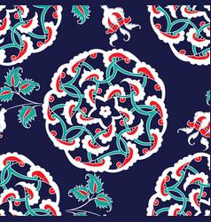 Turkish iznik tile seamless islamic pattern vector