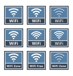 wifi signs set wireless icons vector image