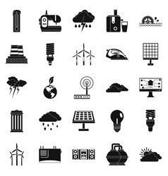 windmill icons set simple style vector image