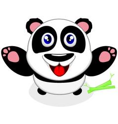 Baby Panda Laughing vector image