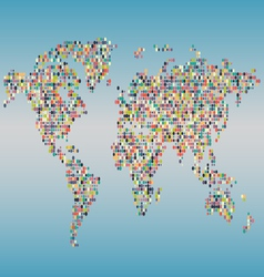 dotted bubble worldmap380x400 vector image