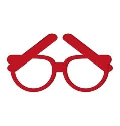 single glasses icon vector image