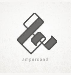 ampersand elegant symbol on grunge vector image