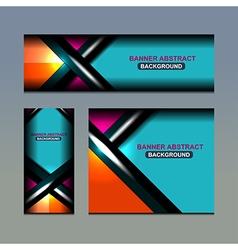 business banner color design vector image