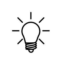 thin line light bulb idea icon vector image