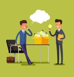 concept of idea cartoon businessman vector image
