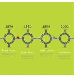 Infographic Timeline four step round circle vector image