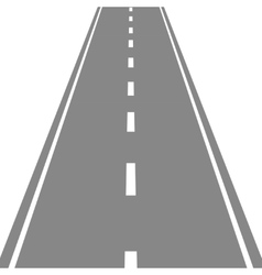 Straight Road simple flat vector image vector image